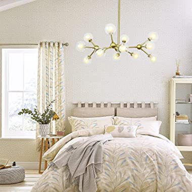 Eco-homely Gold Chandelier - 12 Lights Gold Chandeliers for Dining Room, Contemporary Chandeliers Gold Ceiling Light Fixtures