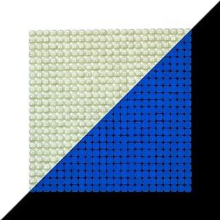 "Illumino Lacrimae Lucis Ivory/Ocean Blue Glow-in-The-Dark Glass Tile / 1 Sheet 12.2"" x 12.2"""