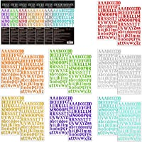 7 Sheets Colorful Gift Alphabet Sticker Self Adhesive PU Material 7 Colors for DIY,Scrapbooking Nicpro Letter Sticker Greeting Cards Decoration