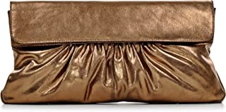 """Leder Clutch mit Metallic-Optik von """"CNTMP"""" Metallicleder Damen Leder Handtaschen, Clutch, Clutches, Clutchbags, Unterarmt..."""