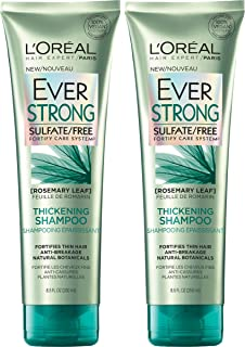 L'Oreal Paris Hair Care EverStrong Sulfate Free Thickening Shampoo, with Rosemary Leaf, 2 Count (8.5 Fl. Oz each) (Packagi...