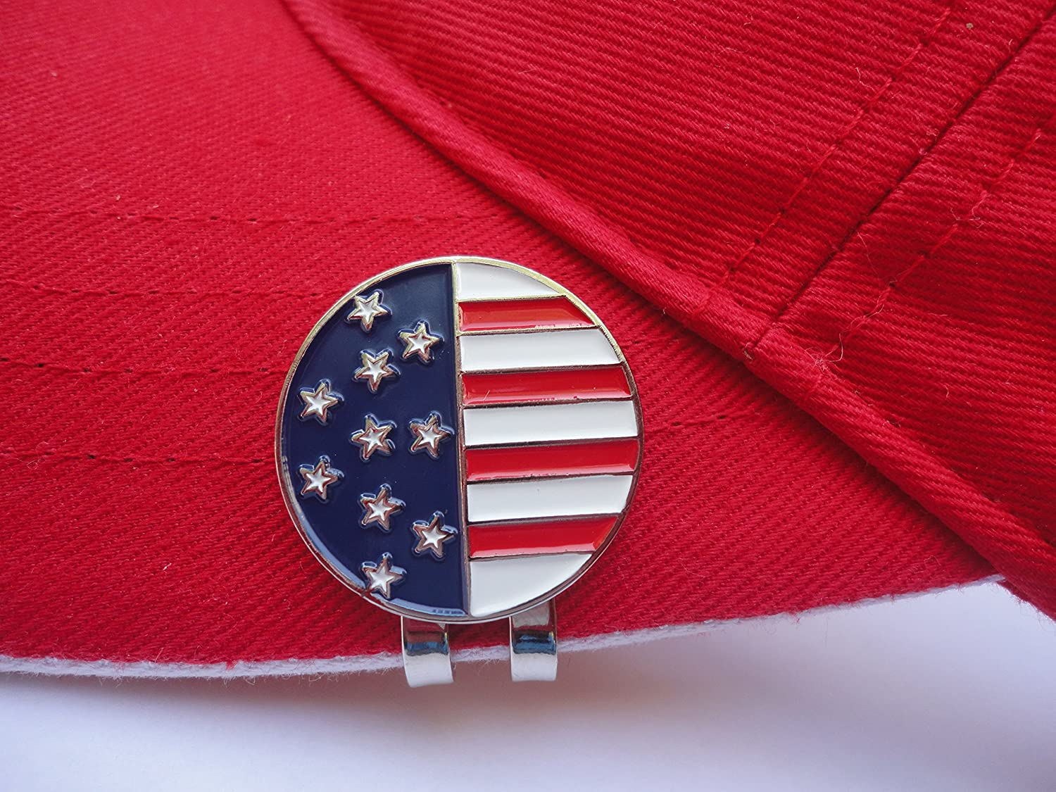 American Flag Louisville-Jefferson County Mall Golf Ball 5 ☆ popular Clip Magnetic Hat Marker