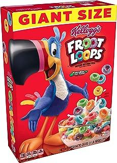 Kellogg's Froot Loops, Breakfast Cereal, Original, Good Source of Fiber, Giant Size, 26 oz Box