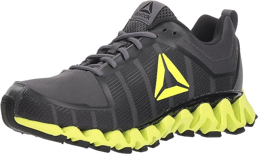 Reebok Men's ZigWild Tr 5.0 Running chaussures, ash gris noir Electric Fabric, 8.5 M US