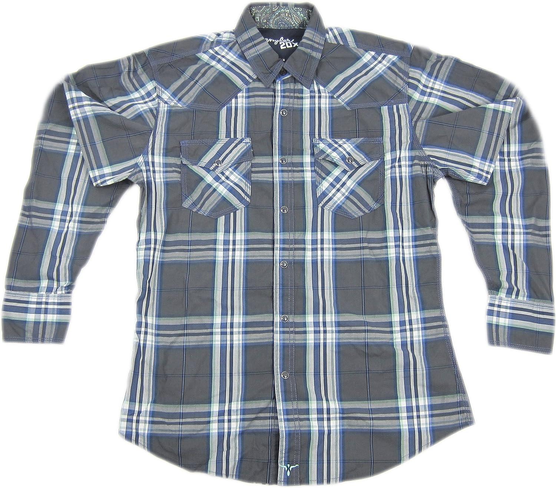 Wrangler Mens Twenty X Western Plaid Long Sleeve Shirt
