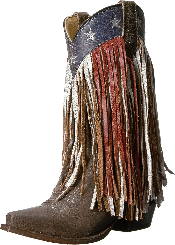 Roper Womens Americana Fringe Work Boot