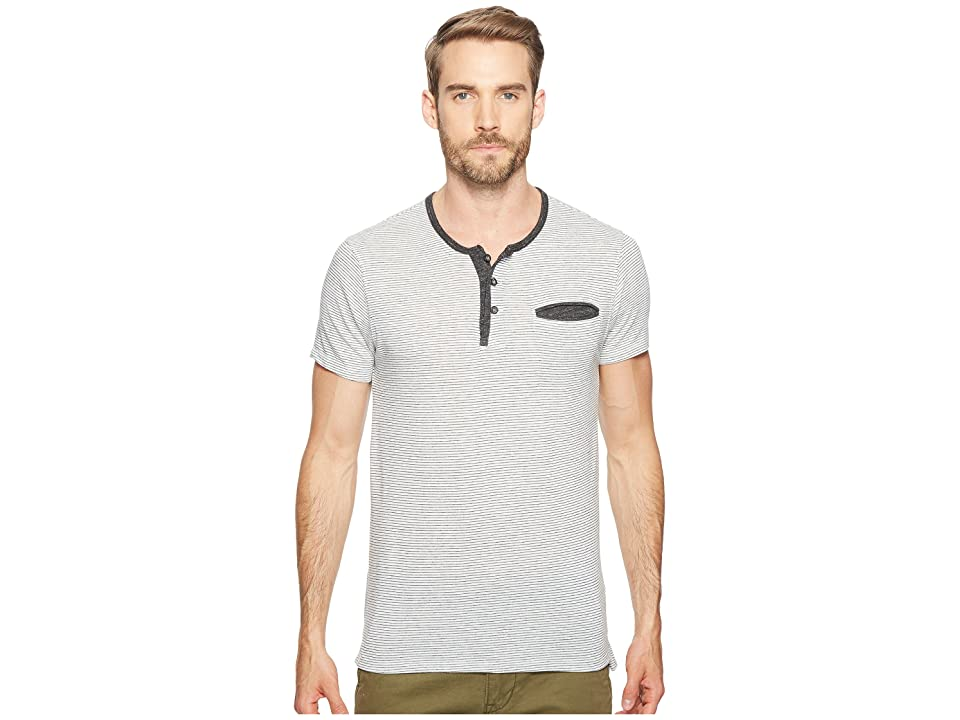 Alternative Eco Jersey Yarn-Dye Stripe Offshore Henley (Eco Ivory Seaside Stripe) Men