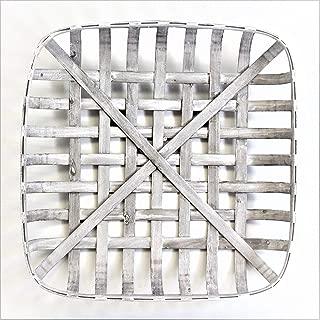 white washed tobacco basket