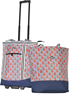 Olympia USA 2-Piece Rolling Shopper Tote Bag and Cooler Buddy