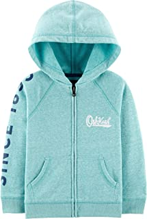 OshKosh B'Gosh Baby-Boys Full Zip Logo Hoodie Hooded Sweatshirt - White - 12 Months