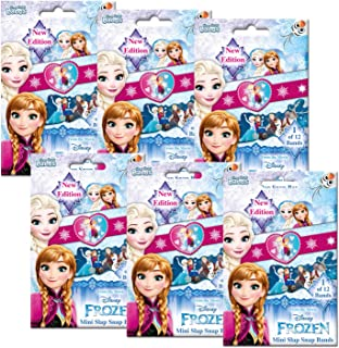 CRAZE 55138 Mini Slap Snap Bands, Disney Frozen, 6 Foilbags – Assorted Colours
