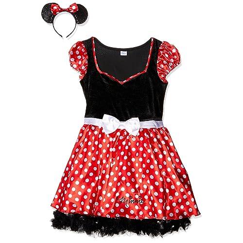 8e81f2f67 Rubie's 888841L Official Disney Minnie Mouse Dress Costume, Adult's, ...