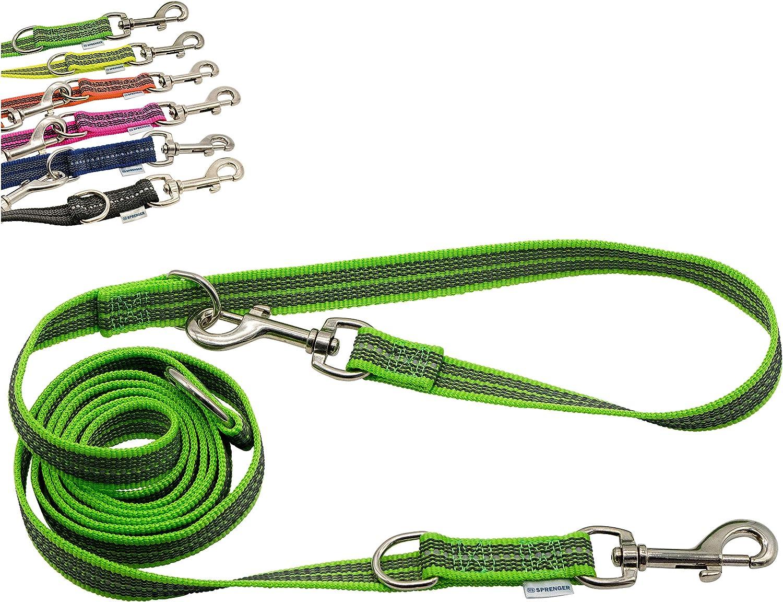Sprenger - Cuerda de goma ajustable en 3 posiciones, 230 cm (2,3 m), color verde