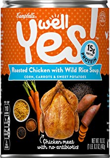 Campbell's Well Yes! Roasted Chicken with Wild Rice Soup, 16.3 oz. Can (Pack of 12)