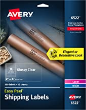 Avery Crystal Clear Address Labels for Laser & Inkjet Printers, 2