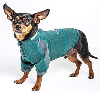 Dog Helios ® 'Eboneflow' Mediumweight 4-Way-Stretch Flexible And Breathable Performance Dog Yoga T-Shirt, Large, Green