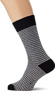 HOM, Socks Calcetines, (Jacquard Carreaux Vichy Noir Et Blanc Pk07), Talla única (Talla del fabricante: ONESIZE) para Hombre