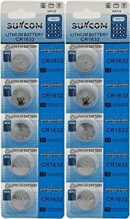 SUNCOM CR1632 リチウム電池 3V DL1632 KECR1632-1 互換 2シート (10個)