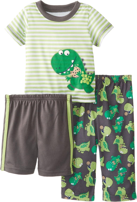 Little Me Baby Boys' Hungry Dino 3 Piece Pajama