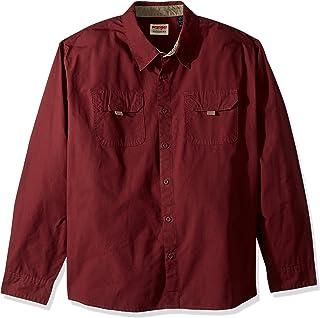Wrangler Authentics Men's Big and Tall Long Sleeve Canvas Shirt