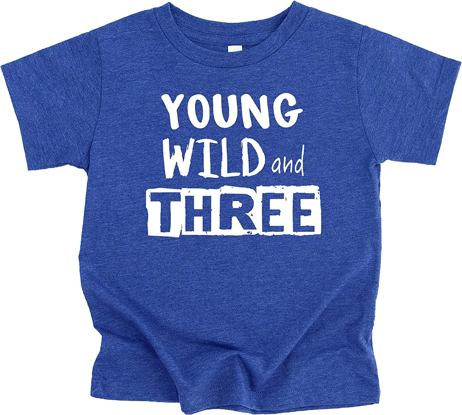 Young Wild and Three Bold Block 3rd Birthday T-Shirts and Raglans for Boys Third Birthday Outfit
