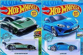 Hot Wheels Aston Martin Vulcan 235/250 and Alpine A110 238/250 2 Car Bundle Set