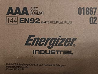 Energizer Industrial EN92 AAA 144 Counts Batteries - Made in The USA