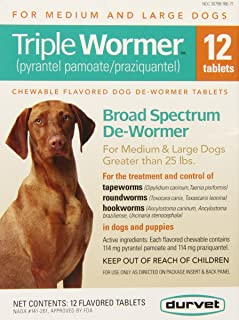 Triple Medium and Large Dog Wormer