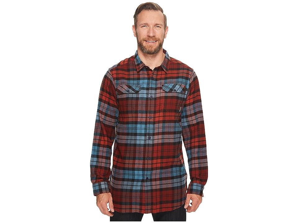 Columbia Big Tall Flare Gun Flannel III Long Sleeve Shirt (Blue Heron Blanket Plaid) Men