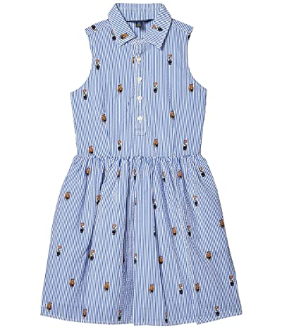 Polo Ralph Lauren Kids Polo Bear Cotton Shirtdress (Big Kids) (Cruise Royal Multi) Girl