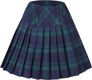EU48 UK20 20 - Royal Stewart Tartanista Kilt//falda escocesa hasta la rodilla mujer 50 cm