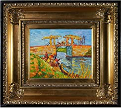 overstockArt Vincent Van Gogh Langlois Bridge at Arles with Women Washing 8-Inch by 10-Inch Framed Oil on Canvas