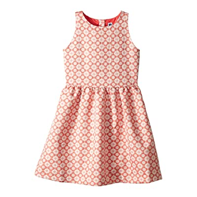Janie and Jack Jacquard Dress (Toddler/Little Kids/Big Kids) (Coral) Girl