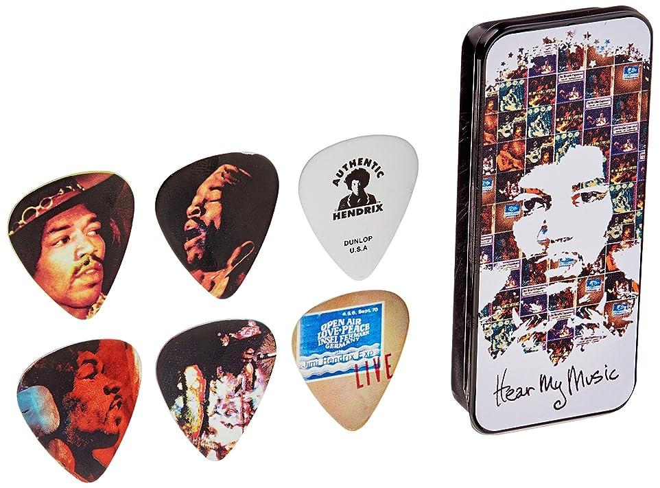 インフルエンザメガロポリス砂漠Jim Dunlop (ジム ダンロップ)  ジミ ヘンドリックス ピック & ケース セット Jimi Hendrix Hear My Music Pick Tin