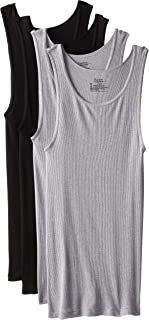 Men's 4-Pack ComfortSoft Moisture Wicking Tagless Tanks