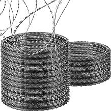 OrangeA Razor Wire Galvanized Barbed Wire Razor Ribbon Barbed Wire 18 inches 75 Feet 15 Coils Per Roll