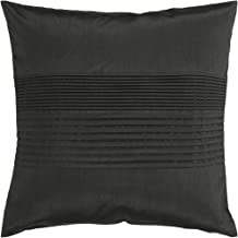 Surya HH-027 Hand Crafted 100% Polyester Black 18 x 18 Solid Decorative Pillow