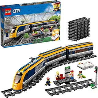 LEGO 60197 City Trains Passenger Train Set, Battery Powered Engine, RC Bluetooth Connection, Tracks and Accessories
