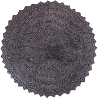 round grey bathroom rug