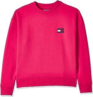 سترة للرجال من Tommy Jeans Tjw Tommy Badge Crew ، اللون: أحمر (أحمر) ، المقاس: 2XS