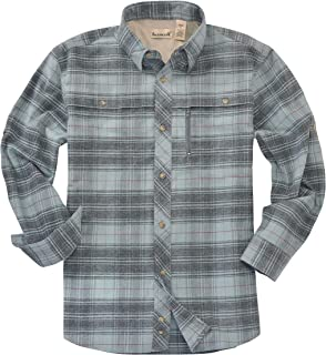 Backpacker Apparel Men's Albacore Stretch Flannel Shirt, Lt. Teal, Small