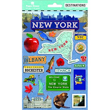 """Paper House Cardstock Stickers 4.625/""""X13/""""-New York City STCX0034"""