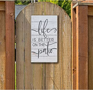 """Kindred Hearts Life is Better Patio Indoor/Outdoor Sign, 11"""" x 20"""", Multicolor"""