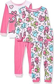 Uglydoll Girls' Ugly Dolls 4-Piece Cotton Pajama Set