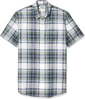 Marchio Amazon - Goodthreads Standard-Fit Short-Sleeve Lightweight Madras Plaid Shirt Uomo