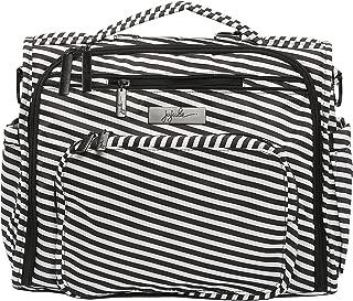 JuJuBe B.F.F Multi-Functional Convertible Diaper Backpack/Messenger Bag, Onyx Collection - Black Magic
