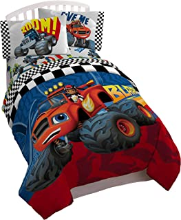 Nickelodeon Blaze Fast Track Twin Comforter - Super Soft Kids Reversible Bedding features Blaze and AJ - Fade Resistant Polyester Microfiber Fill (Official Nickelodeon Product)