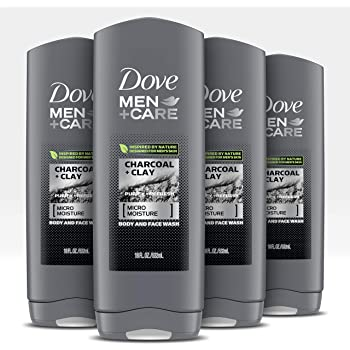 Amazon Com Dove Men Care Elements Body Wash Charcoal Clay 18 Oz 4 Count For Men S Skin Care Effectively Washes Away Bacteria While Nourishing Your Skin Beauty