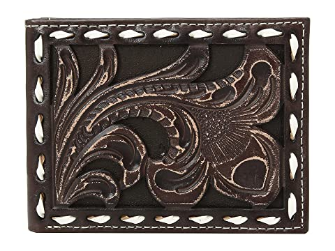 Ariat Floral Embossed with Buckstitch Lace Bifold Wallet Brown Cheap For Sale Clearance Latest For Nice Low Shipping Online ElV83kN