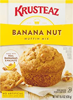 Krusteaz Banana Nut Muffin Mix, 15.4-Ounce Boxes (Pack of 12)